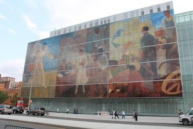 Harlem Hospital opened it's new $325 million wing to the public Thursday, unveiling a public art gallery that features historic murals commissioned by the Works Progress Administration Federal Arts Project.