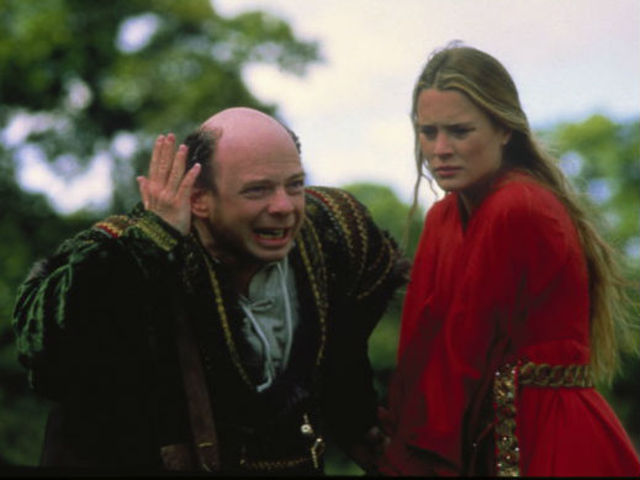 Wally Shawn and Robin Wright in The Princess Bride.