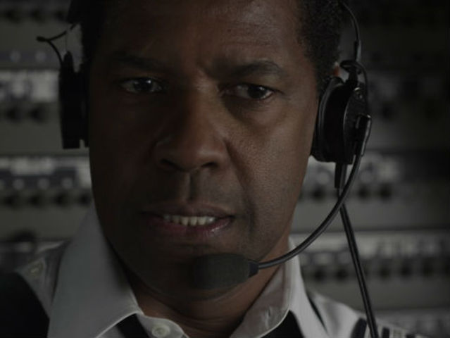 Flight, starring Denzel Washington, is about a pilot who pulls off an incredible crash landing while flying under the influence.