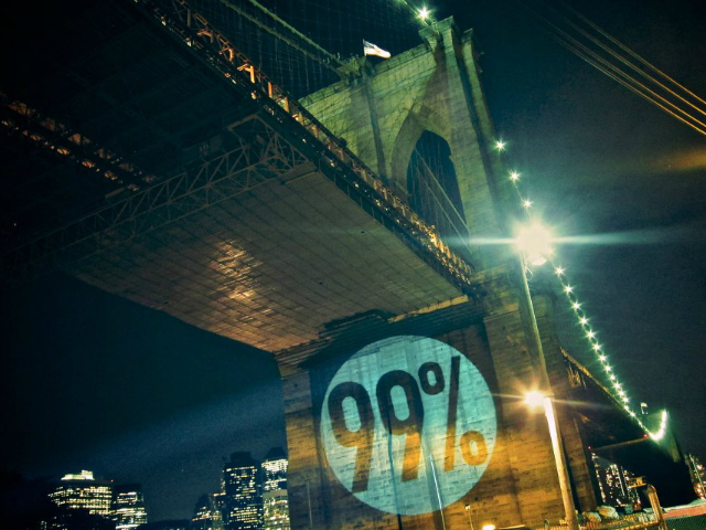 <p>The Brooklyn Bridge.</p>