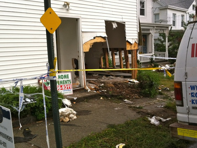 <p>A crash on Sept. 28, 2012, left a gaping hole in an Arthur Kill Road home.</p>