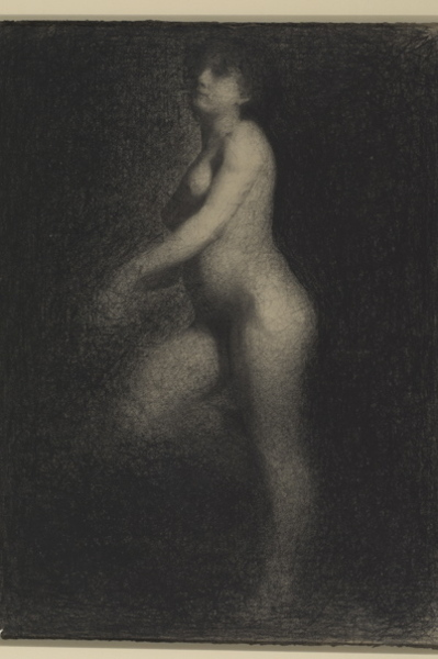 Georges Seurat (1859–1891) Female Nude, c. 1879–81 Black Conté crayon over stumped graphite 24.9 x 19 inches