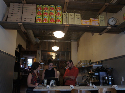 <p>Waitstaff at Barboncino on Franklin Avenue.</p>