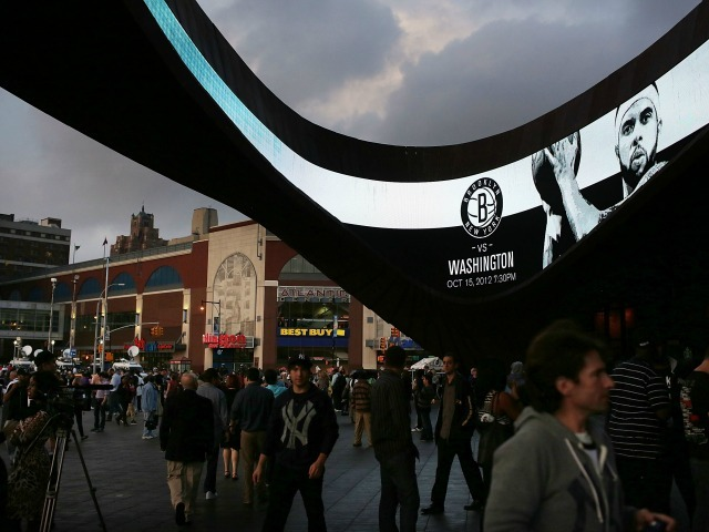 <p>The Barclays Center serves as the home arena for the Brooklyn Nets.</p>