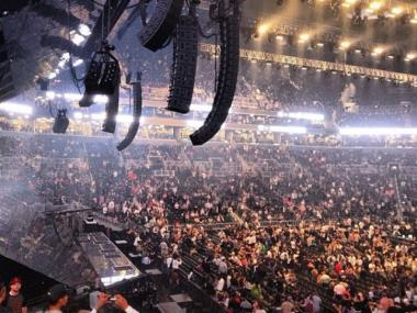 Thousands of fans cheered Jay-Z at the opening of the Barclays Center Sept. 28, 2012.