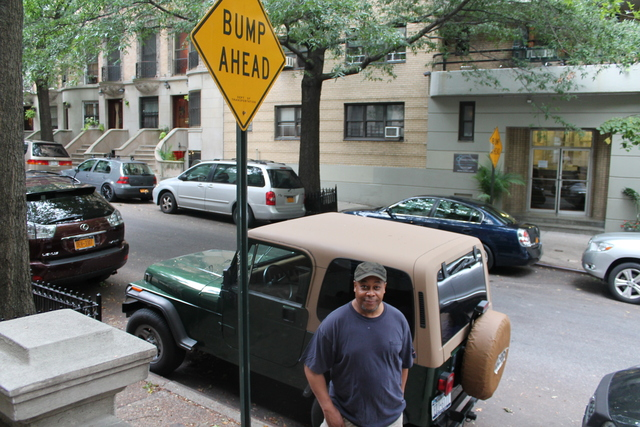 """There used to be two speed bumps,"" said Marvin Terry, 62, a wood worker who has lived on the street since 1995. ""The bump's that left is too low."""