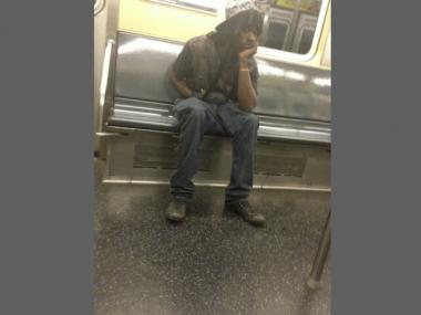 This man is wanted for allegedly mugging a teen for his Dr. Dre headphones aboard an A train in Far Rockaway on Sept. 28, 2012.