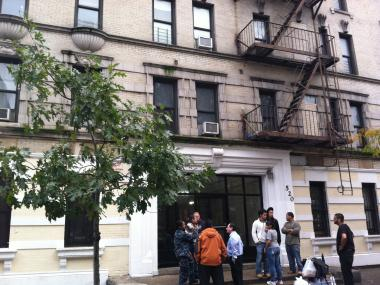 Three families were forced to leave their apartments at 520 W. 183rd St. after inspectors found unsafe illegal construction.