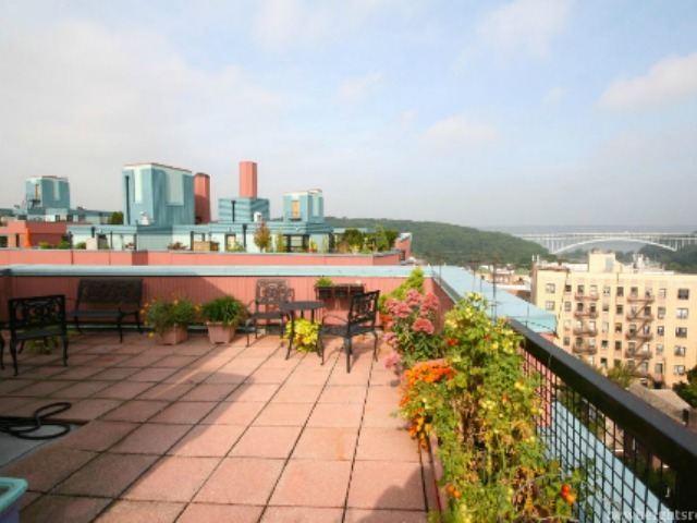 <p>This two-bedroom at 75 Park Terrace East in Inwood features a large patio and is asking $535,000.</p>