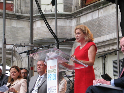 <p>Congresswoman Carolyn Maloney was among the featured speakers at the groundbreaking ceremony.</p>