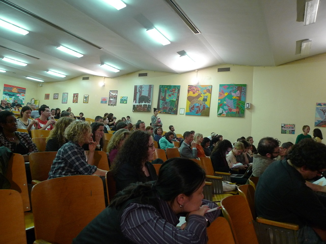 <p>The audience at the District 15 CEC meeting where proposed zoning changes were unveiled.</p>