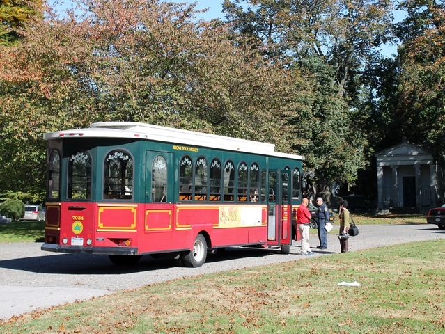 <p>Monday&#39;s Historic Women of Woodlawn event included a tour of the Woodlawn Cemetery via the Bronx Culture Trolley.</p>