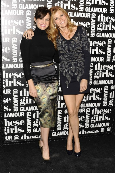 <p>Carla Gugino and Connie Britton at <em>Glamour&#39;</em>s &quot;These Girls&quot; party at Joe&#39;s Pub on Monday, Oct. 8, 2012.</p>
