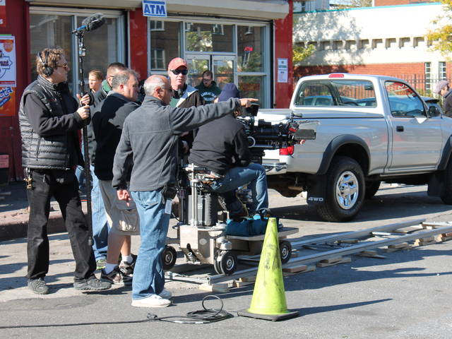 CBS filmed a scene for its upcoming cop drama 'Golden Boy' in Red Hook Monday morning, Oct. 22, 2012.