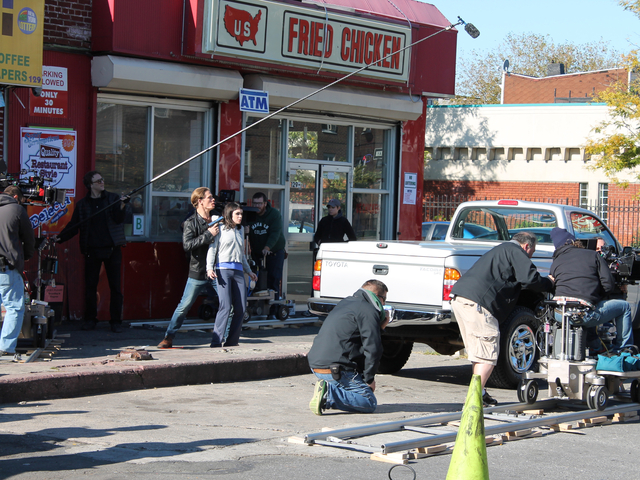 <p>CBS filmed a scene for its upcoming cop drama &#39;Golden Boy&#39; in Red Hook Monday morning, Oct. 22, 2012.</p>