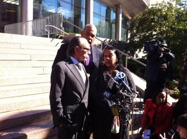 Cecilia Reyes met with the district attorney investigating Polanco's shooting death.