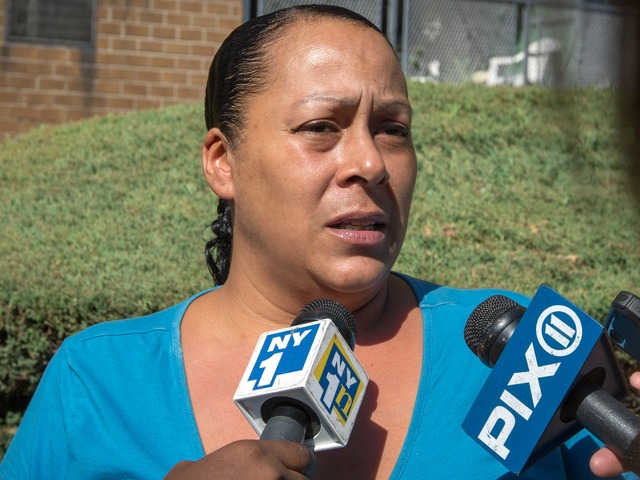 <p>Cecilia Reyes tells the media that she want answers in the killing of her son, Noel Polanco, who was shot fatally by police on Oct. 5, 2012.&nbsp;</p>