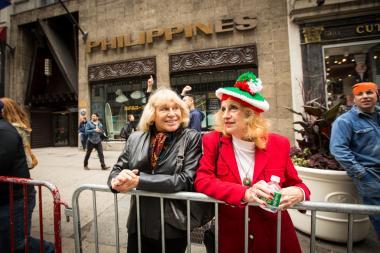 Tens of thousands celebrated Italian heritage by marching up Fifth Avenue on Monday October 8, 2012.