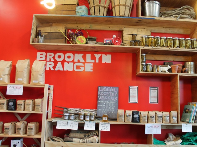 <p>Brooklyn Grange has its farm stand in the corner of the coffee shop.</p>