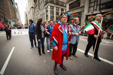 A man from New Jersey dressed as Christopher Columbus in the 68th Annual Columbus Day Parade on Oct. 8, 2012.