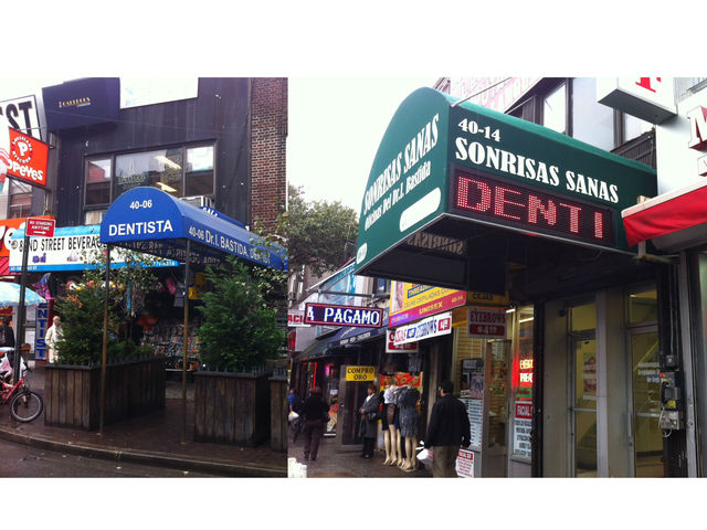 <p>Ismael Bastida&#39;s&nbsp;first dentist office, left, and his newest office, right. Bastida said that his optimism on 82nd Street&#39;s future allowed him to expand.</p>