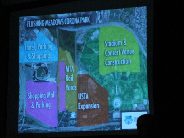 <p>A diagram showing the development projects slated for Flushing Meadows Corona Park.</p>