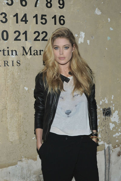 <p>Doutzen Kroes at the lunch of Maison Martin Margiela for H&amp;M at 5 Beekman in the Financial District, Tuesday, October 23, 2012.</p>