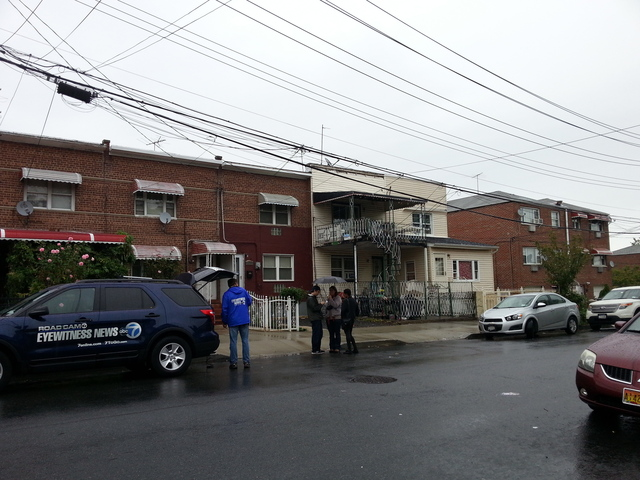 <p>The E. 223rd Street house where a 70-year-old woman was mauled by a dog on Oct. 2, 2012.</p>