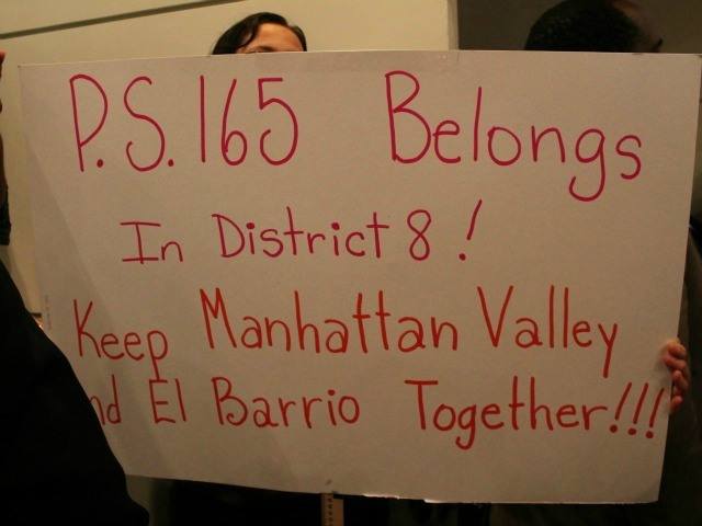 <p>Some expressed concern that P.S. 165 might be cut from the eighth district.</p>