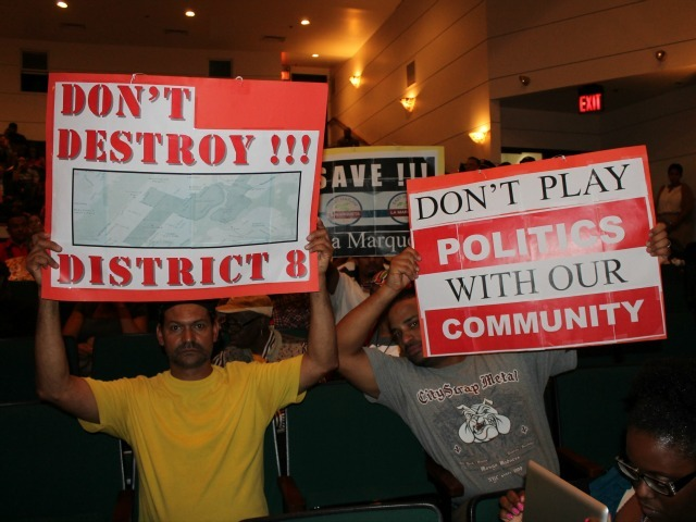 <p>Residents panned the proposed new City Council district borders for northern Manhattan, which were presented during a November 2012 hearing.</p>