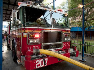 The Fire Department says a blaze broke out at 6:30 a.m. on Jan 1, 2013 at 135 W. 141st St.