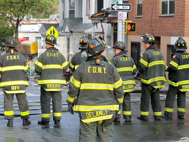 <p>Seven firefighters were hurt battling a blaze at 17 E. 184th St. on Oct. 15, 2012.</p>