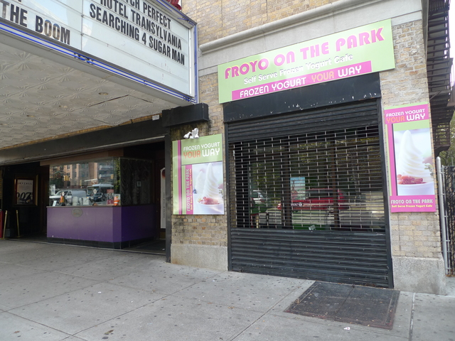 <p>The small frozen yogurt shop next to the Pavilion movie theater on Prospect Park West is one of many fro zo shops that have opened in Park Slope recently.</p>