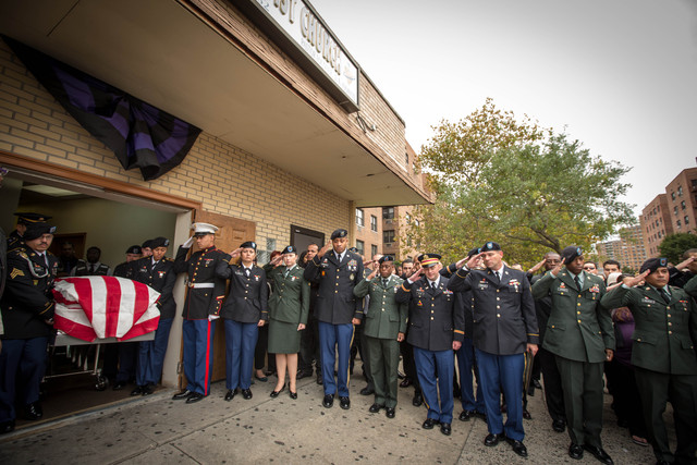 <p>Noel Polanco&#39;s stepbrother, Jonathan Polanco, first in line, carried the casket out with other army men. Jonathan Polanco,</p>