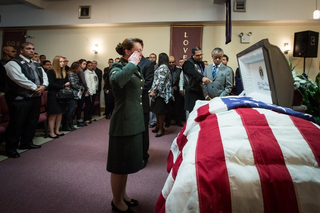 <p>Specialist Corr paid her last tribute to Noel Polanco, who was promoted posthumous to a sergeant.</p>