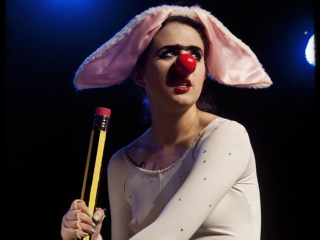 <p>Gemma Stone at Brain in Good Idea/Bad Idea, Rhinestone Gorilla&#39;s burlesque tribute to &quot;Animaniacs.&quot;</p>
