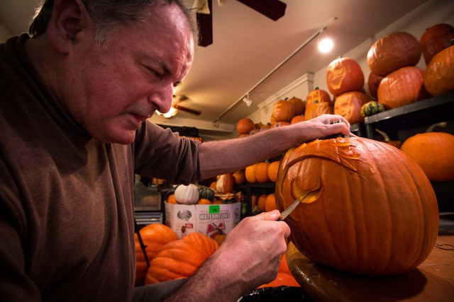 <p>With a background in arts, McMahon has been doing pumpkin carving for 35 years.</p>