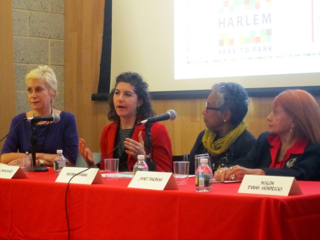 <p>Melanie Young, Lauren Danziger, Nevah Assang and Janet Barbash spoke Oct. 10, 2012 at the Harlem Hospitality &amp; Culinary Conference.</p>