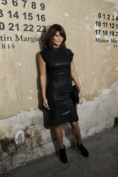 <p>Helena Christensen at the lunch of Maison Martin Margiela for H&amp;M at 5 Beekman in the Financial District, Tuesday, October 23, 2012.</p>