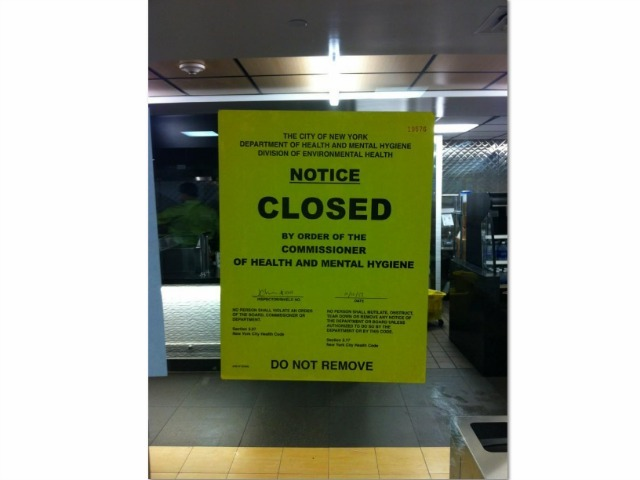 <p>The Health Department notice posted on Hunter College&#39;s 3rd floor cafeteria.</p>