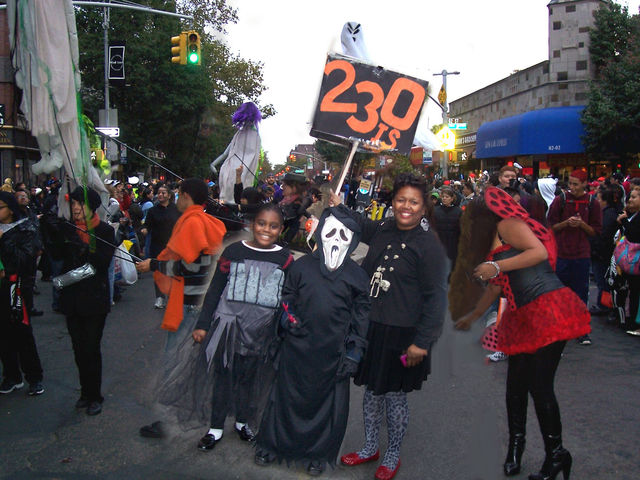 <p>Marchers in the&nbsp;Jackson Heights Halloween Parade</p>