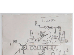 <p>Daniel Himmelfarb, who owned the now-defunct SoHo art supply store, says the artist Jean-Michel Basquiat gave him a triptych of his paintings in exchange running up a tab.His store, Jamie Canvas, is now a Dr. Martens shoe shop.</p>