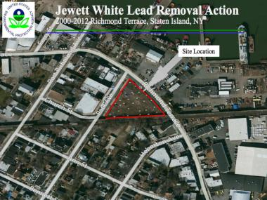 The EPA has started to remove contaminated soil at the former Jewett White Lead Company on Richmond Terrace, which was declared a temporary superfund in 2009. In the 90s, the location was the home to the Sedutto ice cream company factory.