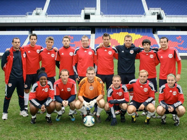 <p>The New York Red Bulls organization recruited Michael Jones, top right, as a youth coach in 2008 and brought him to the United States from his home in England.&nbsp;</p>