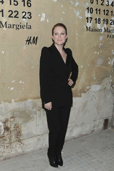 <p>Julianne Moore at the lunch of Maison Martin Margiela for H&amp;M at 5 Beekman in the Financial District, Tuesday, October 23, 2012.</p>