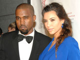Kanye West and Kim Kardashian Canoodle at Angel Ball