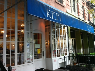 <p>Notices on the door at Kefi proclaiming that it has been closed by order of the DOH&nbsp;Commissioner.&nbsp;</p>