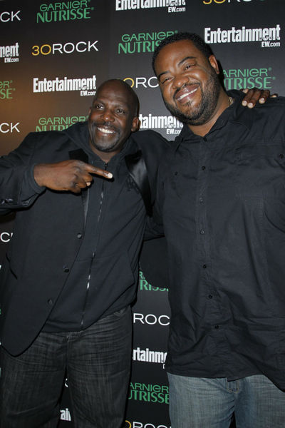 <p>Kevin Brown and Grizz Chapman at Entertainment Weekly&#39;s party for 30 Rock&#39;s final season at Isola in NoLIta, Wednesday, October 3, 2012.</p>