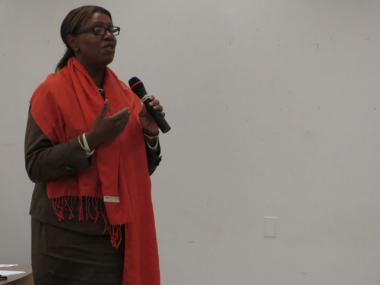 Councilwoman Letitia James said that Brooklyn residents sympathize with Upper Manhattan's affordable housing problem at a task force meeting on Oct. 11, 2012.
