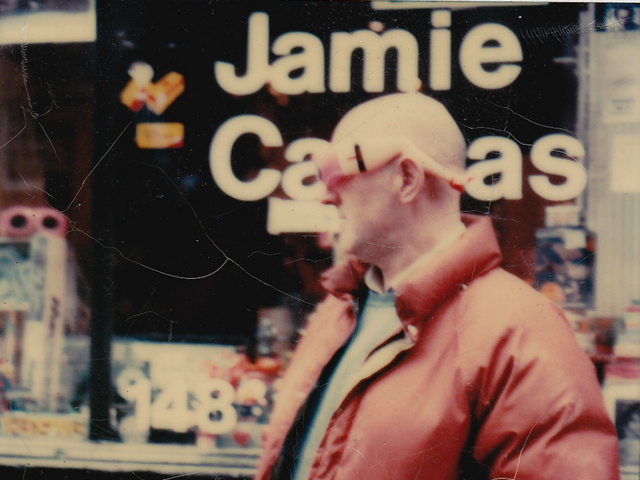 <p>The artist Malcolm Morley outside Jamie Canvas, a now-defunct SoHo art supply store owned by Daniel Himmelfarb.</p>